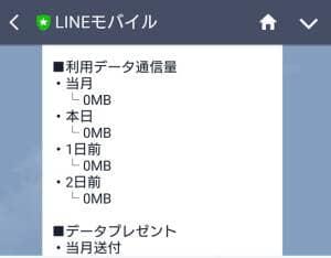 LINEモバイル データ使用量 03