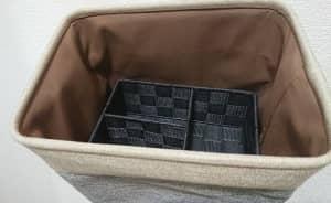 ニトリ バスケットとダイソー 仕切り収納ボックス 組み合わせ